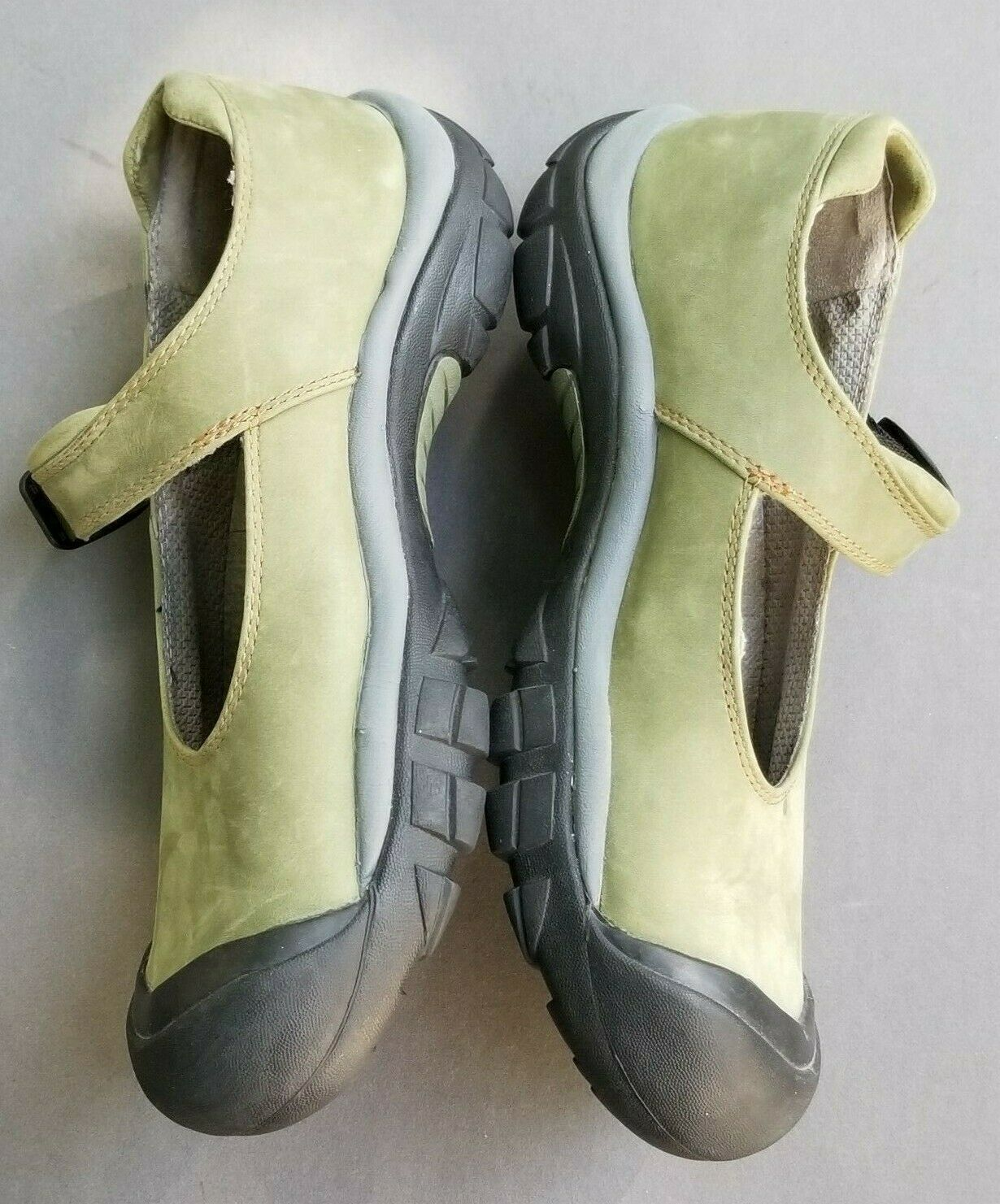 Keen Womens Mary Jane 7.5 Buckle Strap Green Suede Slip On Trail Shoes 38 image 6