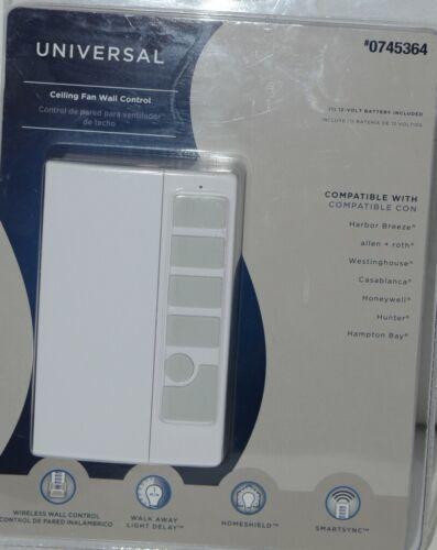 Harbor Breeze 0745364 Universal Ceiling Fan Wall Control White Pkg 1