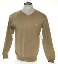 Men's Volcom Khaki V-Neck Lightweight Standard Sweater  - $37.49
