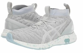 Asics Size 10 HYPERGEL KAN Grey Leather Running Sneakers New Womens Shoes  - $217.14 CAD