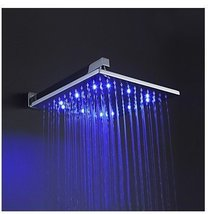12 Inch Brass Shower Head with Color Changing LED Light - $207.85