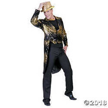 DISC0UNTST0RE Glitter Tailcoat Gold Adult Costume Md Halloween Costume - $61.35