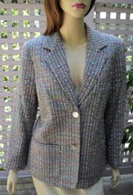 APPLESEED'S Rainbow Pastels Woven Boucle Lined Dress Jacket w/ Pockets (... - $19.50
