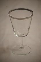 "Vintage Princess Platinum by West Virginia Glass 6-1/4"" Glass Thin Silve... - $12.86"