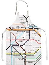 London Underground Tube Map Printed Cloth Apron - $19.48