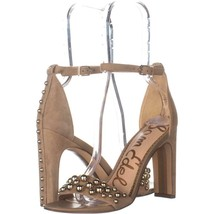 Sam Edelman Yoshi Ankle Strap Sandals 623, Oatmeal, 7 US / 37 EU - $41.27