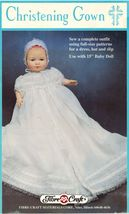 """Fibre Craft Christening Gown Slip Hat For 15"""" Baby Doll Sew Pattern - $14.99"""