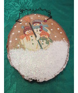 Decorative Handpainted Snowman Hanger Ornament - $9.99