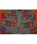 Indian Kuna Mola Hand stitched Applique Superb Colorful Water Bird Folk ... - $66.49