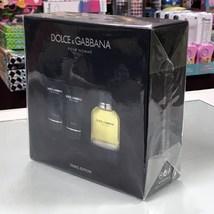 Dolce & Gabbana Pour Homme 3-PCs Men Set, 4.2 Oz + 1.6 As Balm + 1.6 Gel - $72.98