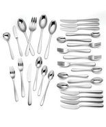 Lenox Haven 54 Piece Flatware Set Service For 8 Stainless Steel 18/10 Sh... - $210.00