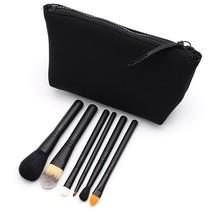 Makeup Brush Set Pouch Portable Medium Size 6pc Black Feature Advanced C... - $35.52