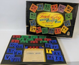 Ultra Rare Vintage TEACH-A-TOY Teaching Aid Game Set By Hasbro / Hassenfeld - $40.00