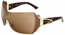 Swarovski SK0052/s 30G Women's Brown Mask / Shield Crystal Sunglasses - $128.67