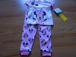 Size 18 Months Disney Mickey Minnie Mouse Pajamas Set S/S Shirt Top Pant... - $12.00