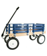 Blue BERLIN FLYER CLASSIC Wooden No Tip WAGON -  MADE in the USA - $225.37