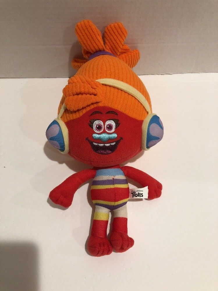 Primary image for Dreamworks Trolls Plush Doll Dj Suki Movie Colorful Orange Yellow Blue Cute 2016