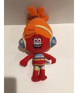 Dreamworks Trolls Plush Doll Dj Suki Movie Colorful Orange Yellow Blue C... - $12.19