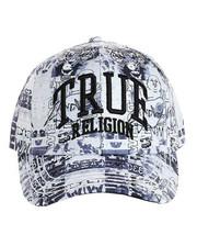 True Religion Men's Graffiti Patterned Logo Baseball Cap Sports Strapback Hat image 2