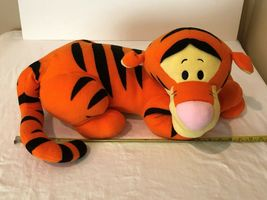 "Disney Tigger Plush 22"" Stuffed Animal Large Tiger Laying Down Big Soft Toy image 9"