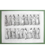 PERSIA & Assyria Natives People Costume Fashion - 1870 Original Engraving - $9.45