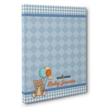 Teddy Bear With Balloons Baby Shower Guestbook Alternative Art - $20.29+