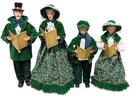 "Santa's Workshop Irish Carolers Figurine 18"" Tall Green/White/Blue - $77.82"