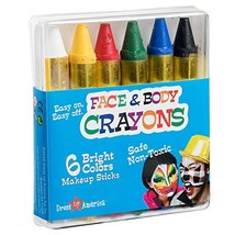 Dress Up America Face Paint 6 Color Crayon - Color Face Paint Ultimate P... - $8.90