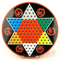 Vintage ~Ohio Art~ Tin Chinese/Regular Checker Board With Marbles And Ch... - $16.82