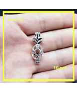 10 pcs Pearl Cage Pendant Shape Pineapple Bright Silver Trendy Locket Fu... - $14.80