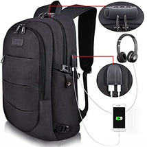 Tzowla Business Laptop Backpack Water Resistant Anti-Theft College Backp... - $53.58 CAD
