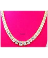 """Judith Ripka 14K YG Clad 19.30ct Baguette Diamonique Tennis Necklace 18""""... - $475.00"""