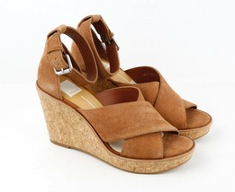 Womens Dolce Vita Urbane Wedge Sandal - Brown Suede, Size 8.5 M US - £45.68 GBP