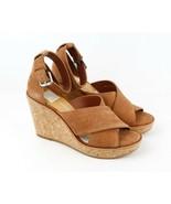 Womens Dolce Vita Urbane Wedge Sandal - Brown Suede, Size 8.5 M US - $59.99