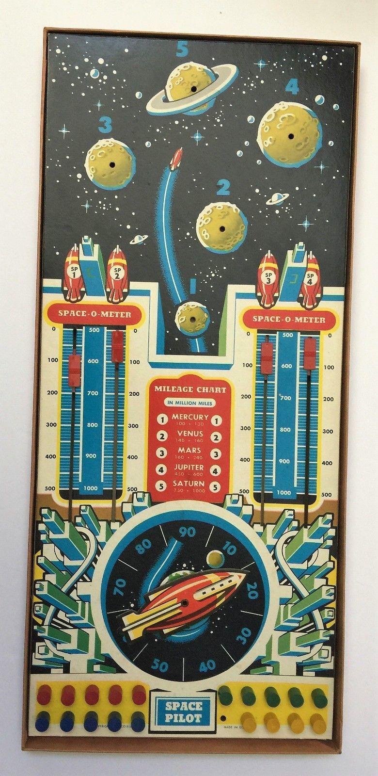 VTG Vintage 1951 Space Pilot by Cadaco Ellis Board Game HARD TO FIND HTF image 3