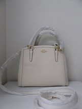 New Coach Crossgrain Glitter Minetta Handbag Satchel Crossbody White Chalk - $156.42