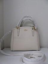 New Coach Crossgrain Glitter Minetta Handbag Satchel Crossbody White Chalk - £120.74 GBP