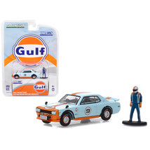 Custom Nissan Skyline 2000 GT-R #9 Gulf Racing Team with Race Car Driver... - $19.14
