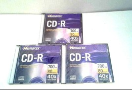 Memorex Blank CD-R CDs 700MB 80 Minutes 40x Multi Speed Lot of 3 - $9.99