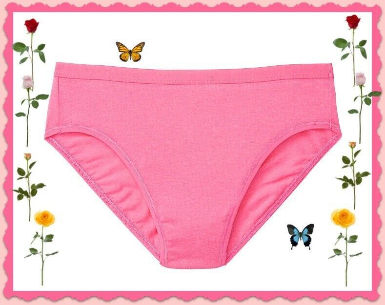 Primary image for M L XL Bright Pink Stretch Cotton Victorias Secret High-Leg Waist Brief Panty