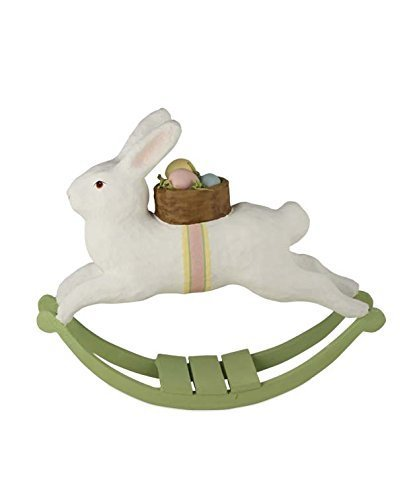 Bethany Lowe Easter Rocking Rabbit Paper Mache TJ5298