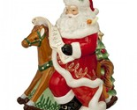 NEW  Waterford Holiday Heirlooms Nostalgic Rocking Horse Santa Cookie