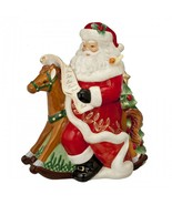 NEW  Waterford Holiday Heirlooms Nostalgic Rocking Horse Santa Cookie - £65.40 GBP
