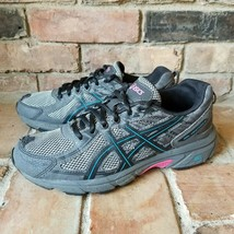 Asics  Gel-Venture 6 Women's 8.5 Running Trail Athletic Shoes Grey/Pink/... - £22.38 GBP