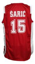 Dario Saric Croatia Basketball Jersey New Sewn Red Any Size image 2