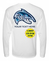 6 Personalized Custom Printed Dri Fit Longsleeve SPF Fishing Tee Sun Shirts  image 2