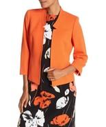 Kasper Valencia Blazer Jacket Orange Women Sz 10 P NEW Petite - $99.00