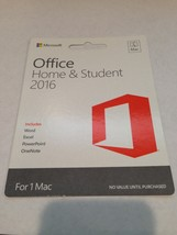 Microsoft Office 2016 Home and Student For Apple Mac Computer - Free USP... - $17.95