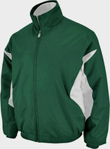 BLANK Majestic Athletic Therma Base Premier Jacket GREEN WHITE OAKLAND A... - $45.77
