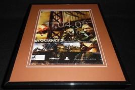 Resistance 2 2008 PS3 Framed 11x14 ORIGINAL Vintage Advertisement - $22.55